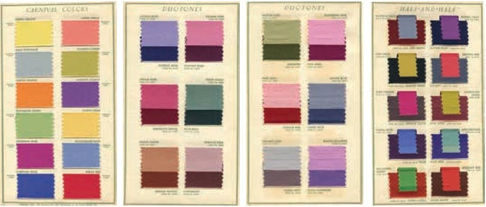 1939 Fall Season Color Card of America, issued by the Textile Color Card Association of the United States   Image source:    The Fashion Forecasters