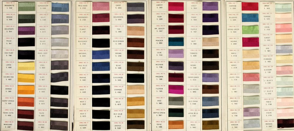 Standard Color Card of America, 6th edition (1922), issued by the Textile Color Card Association of the United States   Image source:    Archive.org