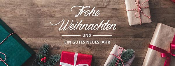 Klassisch & elegant - Dieser Banner passt zu allen Weihnachts- und Neujahrswünschen.