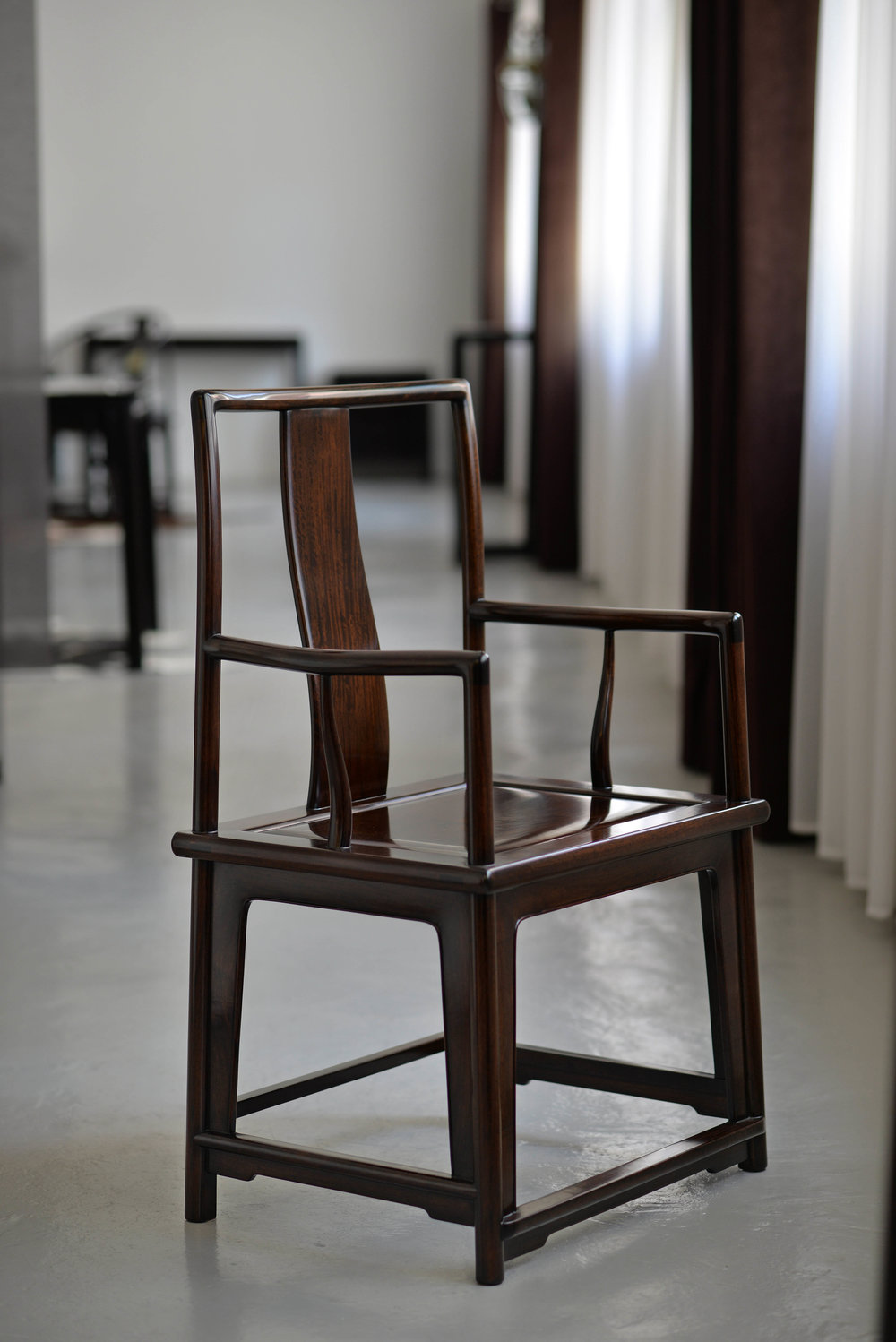 ....chinese ming style furniture | armchair : ch 33..中国明式家具 | 南官帽椅 :CH 33....