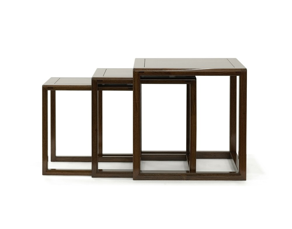 ....bespoke chinese ming style furniture : nested tables ..特别定制中式明式家具 : 层叠台....