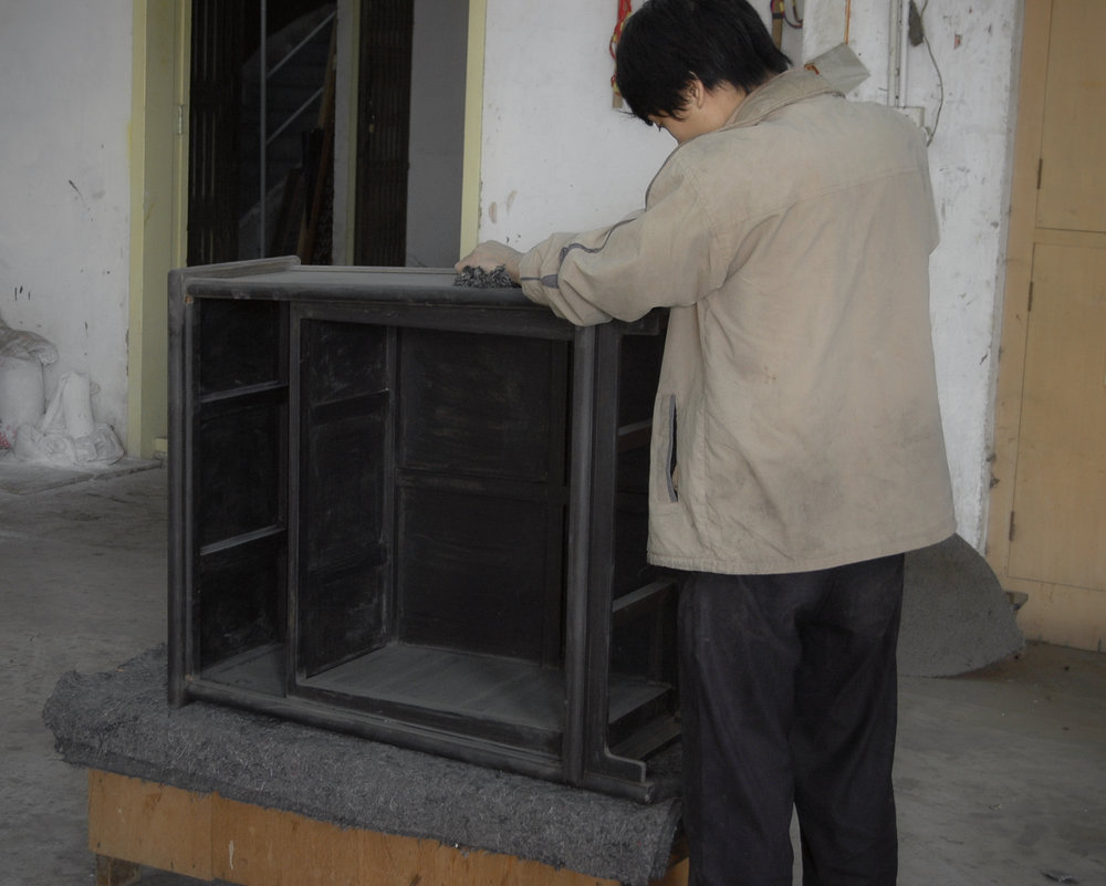 ....bespoke chinese furniture : artisan crafting photos ..特别定制中式家具 : 公丈制作照片....
