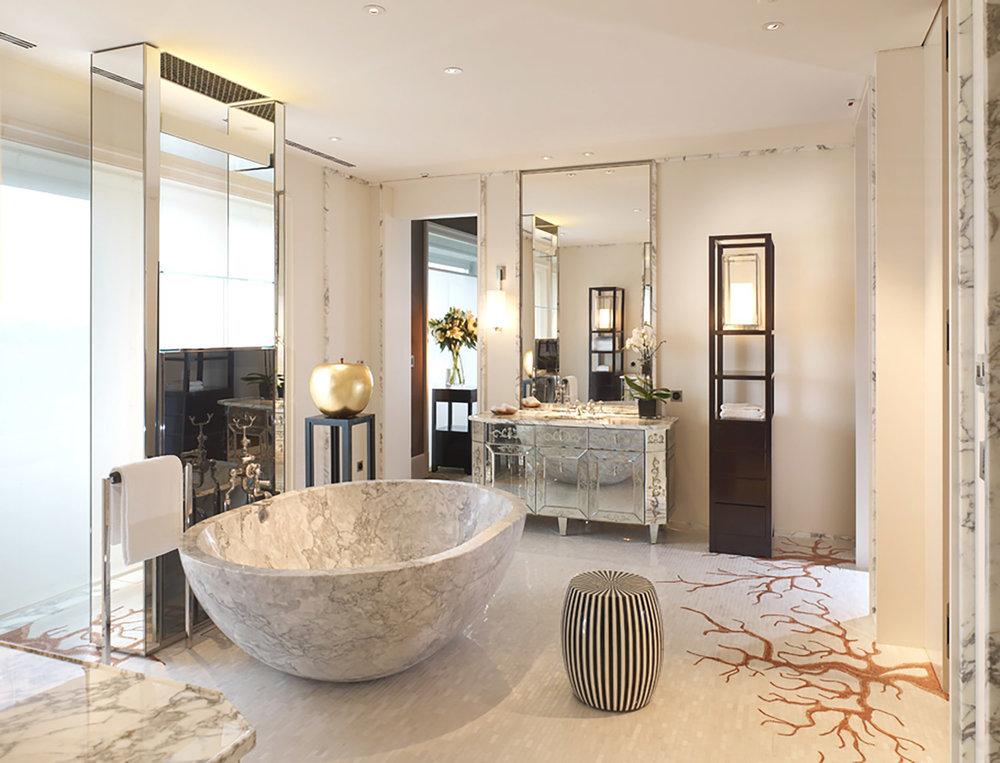 ....hotel project with chinese furniture : bespoke shelf and stand..酒店项目置有中式家具 :特别定制设计书架与花几....