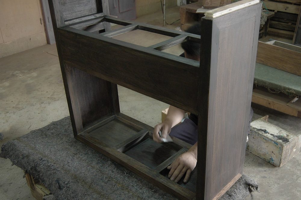 ....bespoke modern chinese furniture : side table..特别定制设计现代中式家具 :台....