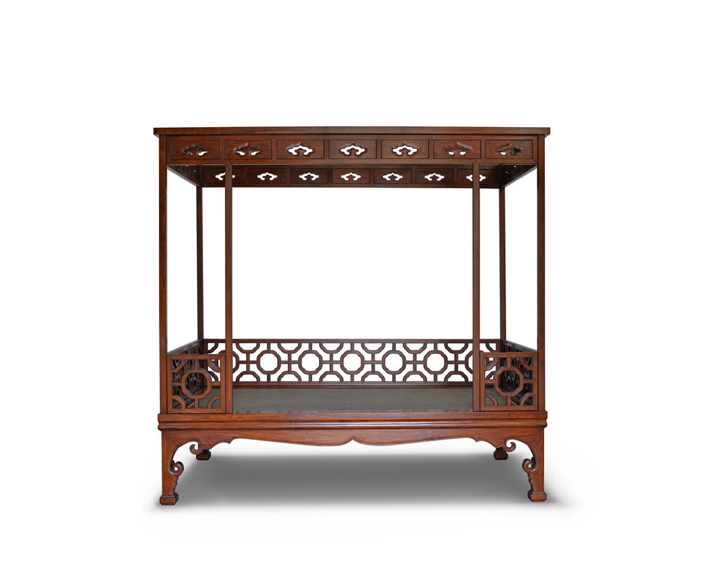 ....Chinese Ming style furniture : canopy bed..中式明式家具:架子床....