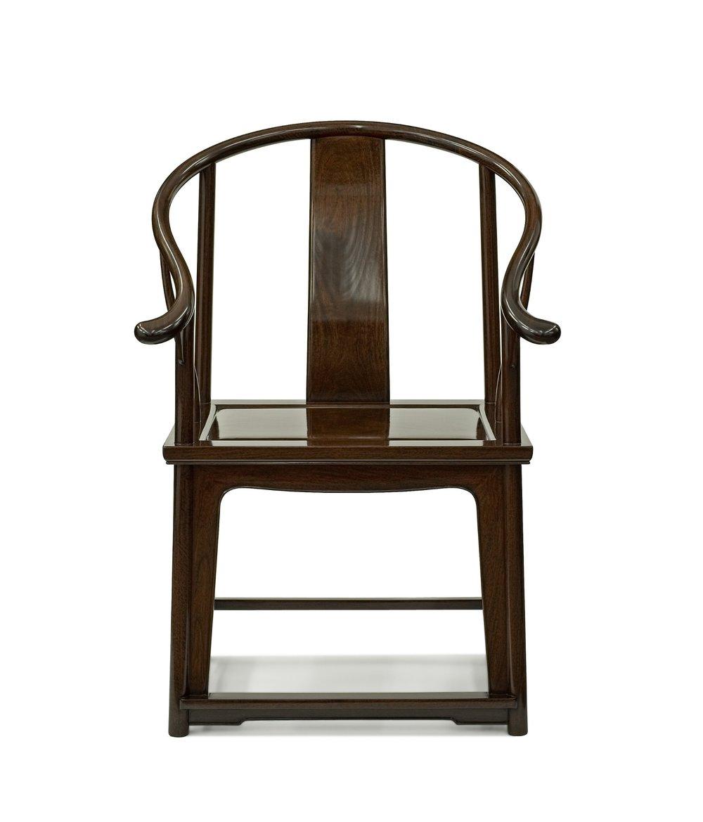 ....Ming Style Chinese furniture : Horseshoe armchair..明式中式家具: 圈椅....