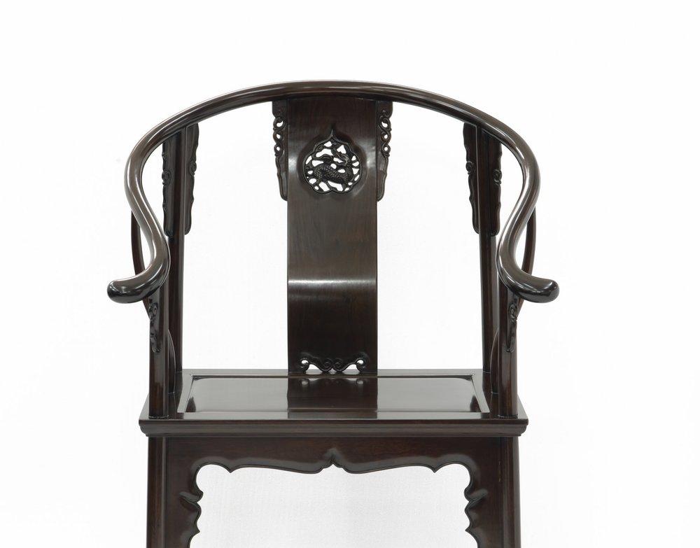 ....Bespoke Ming Style Chinese furniture : Horseshoe Armchair..特别定制明式中式家具: 圈椅....