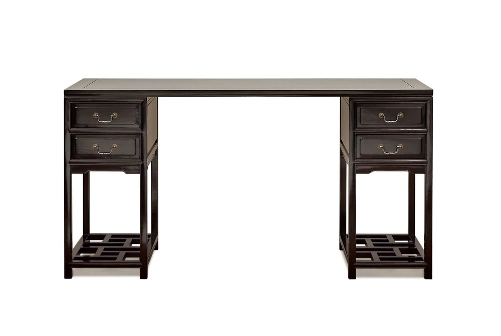 ....Ming Style Chinese furniture : Trestle Desk..明式中式家具: 医生书桌....
