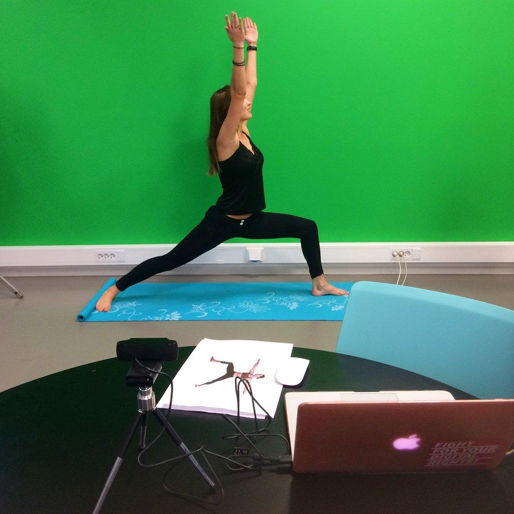Demo av prototypen av Yogaline. Dato: 7.12.17