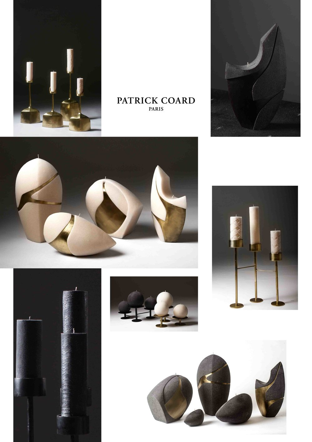 Patrick Coard Paris Sculptural Candles Shagreen Texture Candles