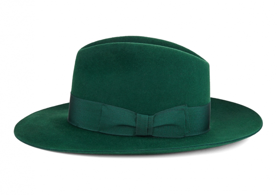 Lock Bowie Fedora green side