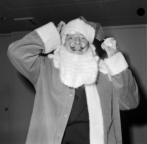 Salvador Dali In Santa Outfit