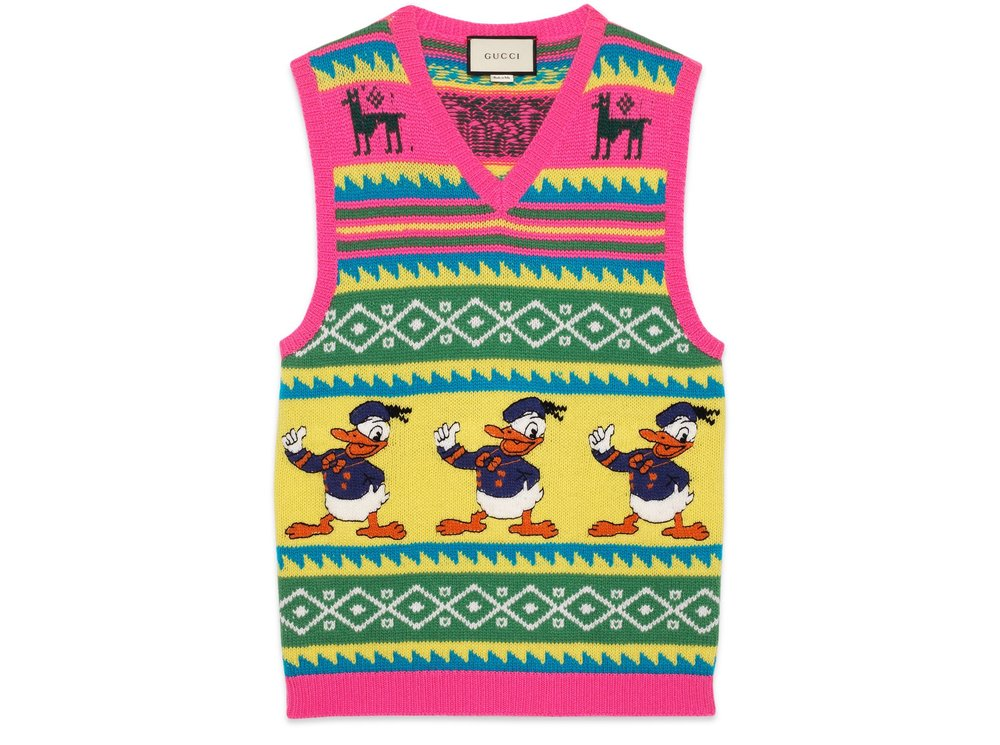 Gucci Intarsia wool waistcoat with Donald Duck.jpg