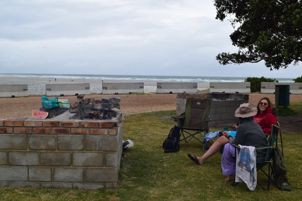 BBQ on the beach in Hermanus
