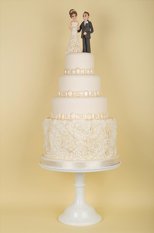 Four Tier Ivory Cake