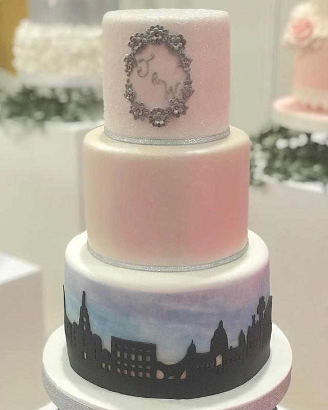 #weddingcake #Liverpool #liverpoolskyline  inspired by one of @elite_invite fab invitations