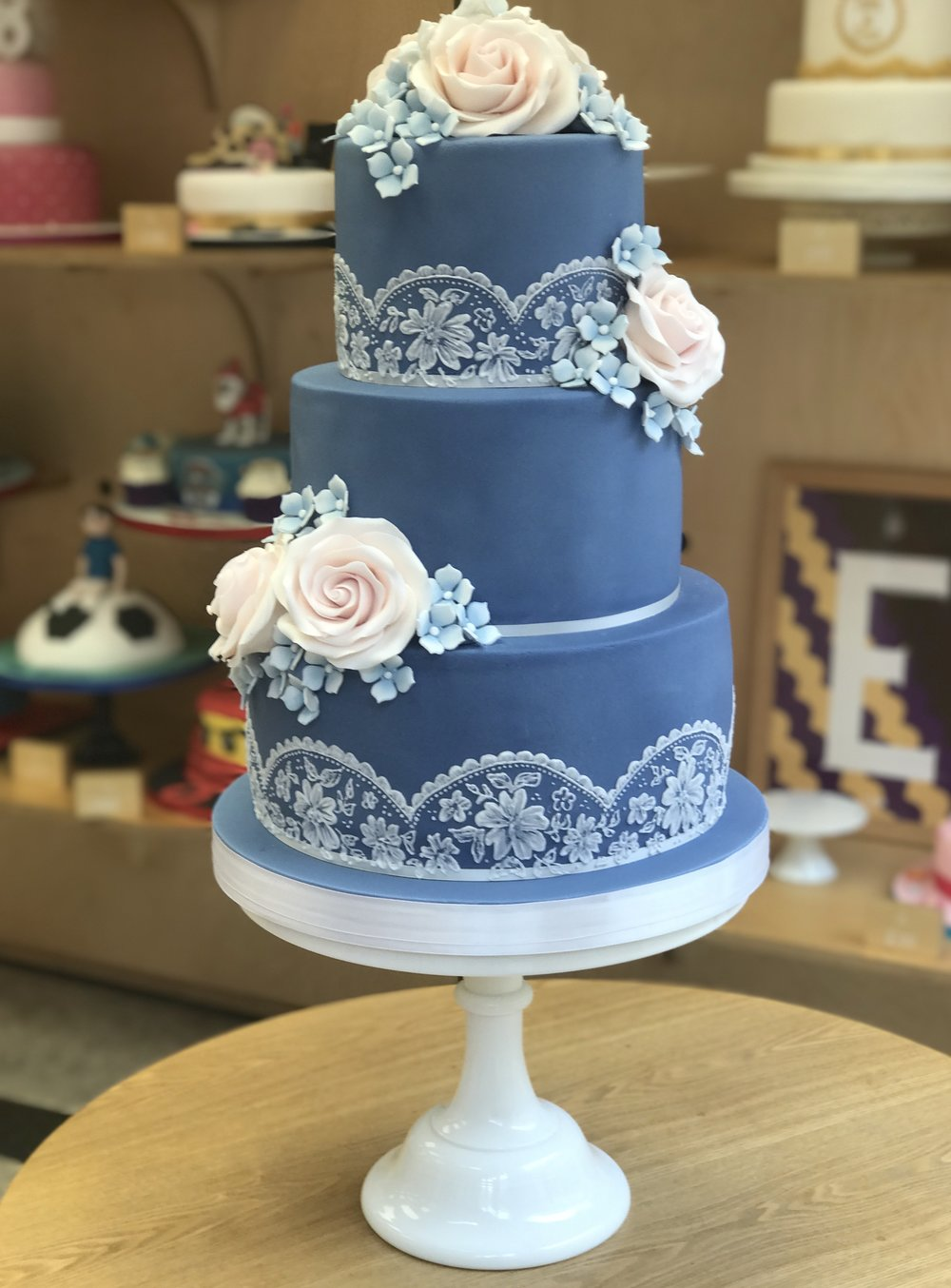 £595  Blue, Roses and Embroidery   Enquire