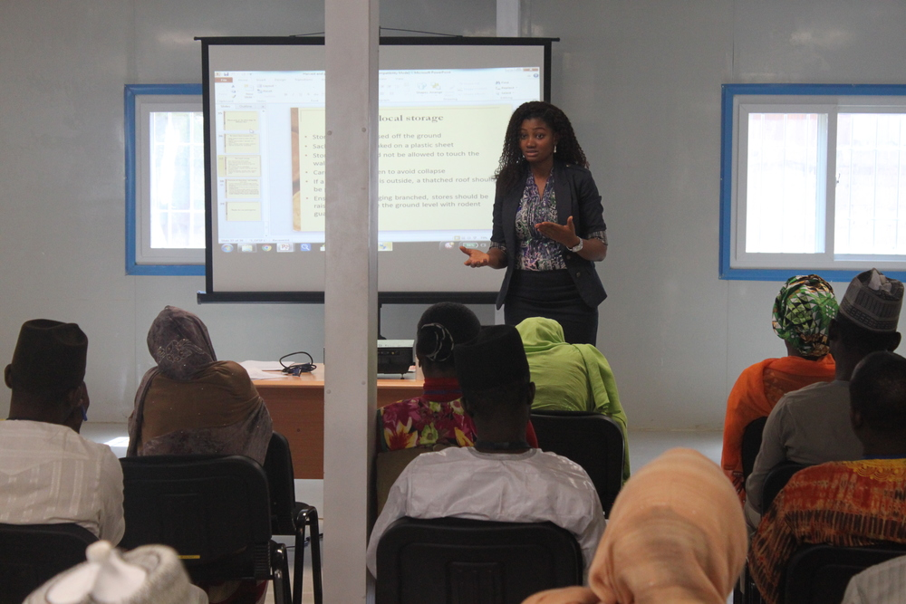 Stephanie Okpere conducting step-down training in Kano.