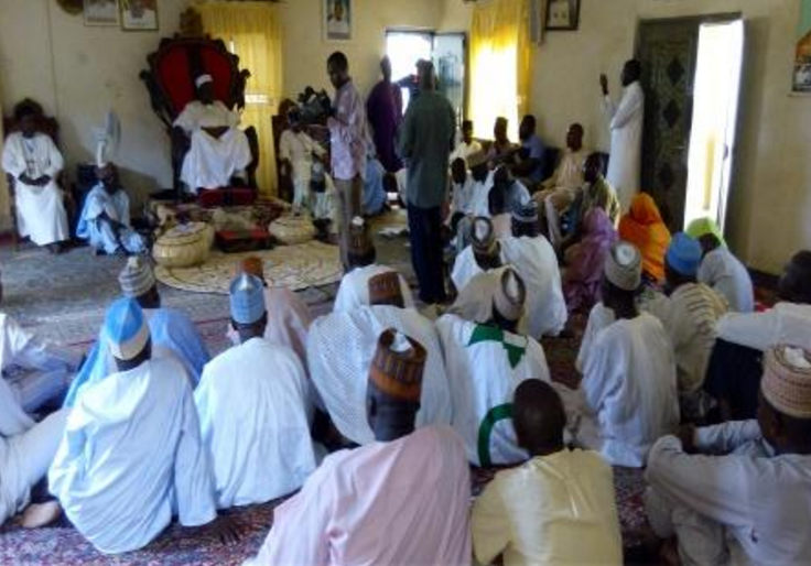 LGA evening review meeting at the Emir of Potiskum's Palace (Yobe State)