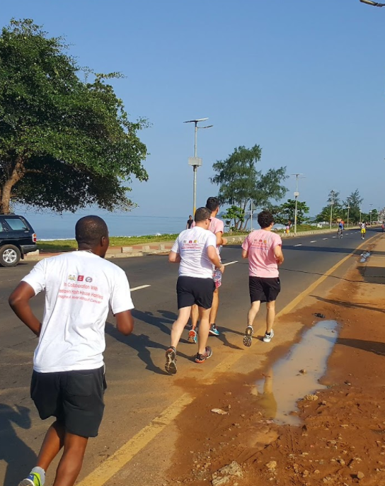 Team eHA on the move in Freetown, Sierra Leone.