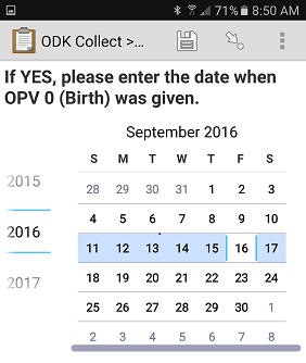 Screenshots of 'Calendar' interface seen on both the smartphone and tablet device.