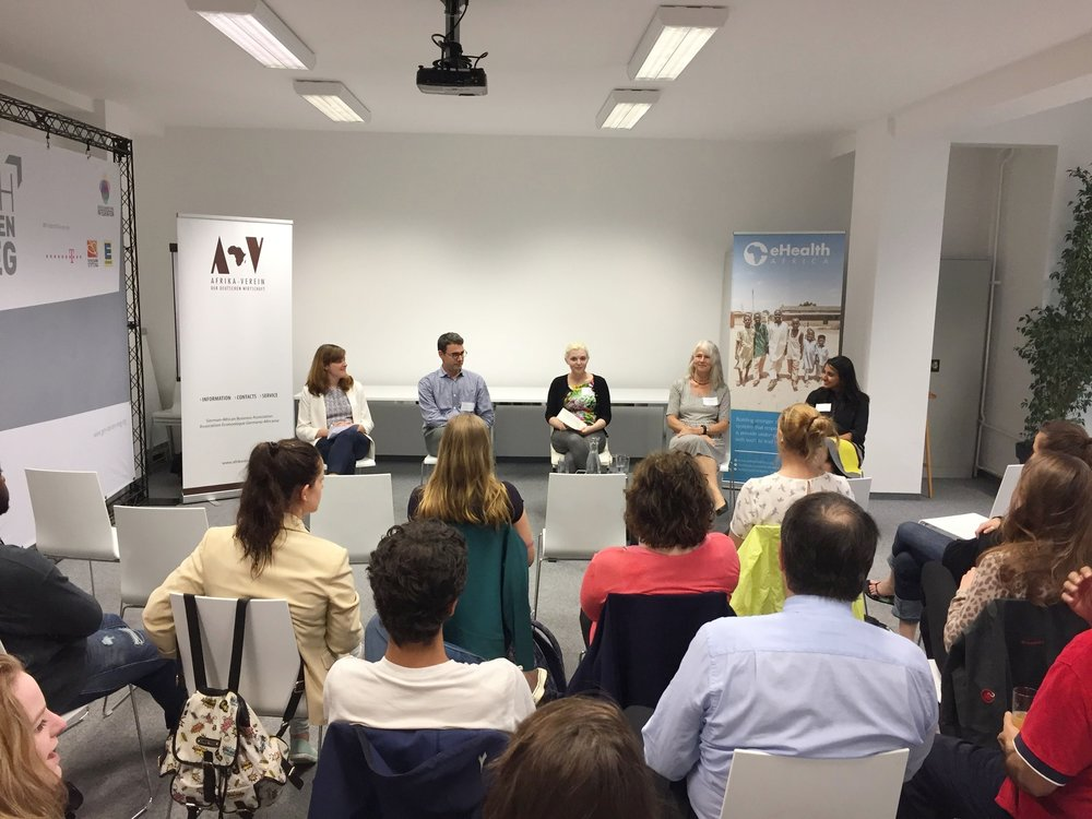 Panelists L-R:Anna Sophia Rainer,Prof. Dr. Titus Kühne,Natalya Nepomnyashcha, Dr. Gabriele Poggensee, and Anu Parvatiyar.