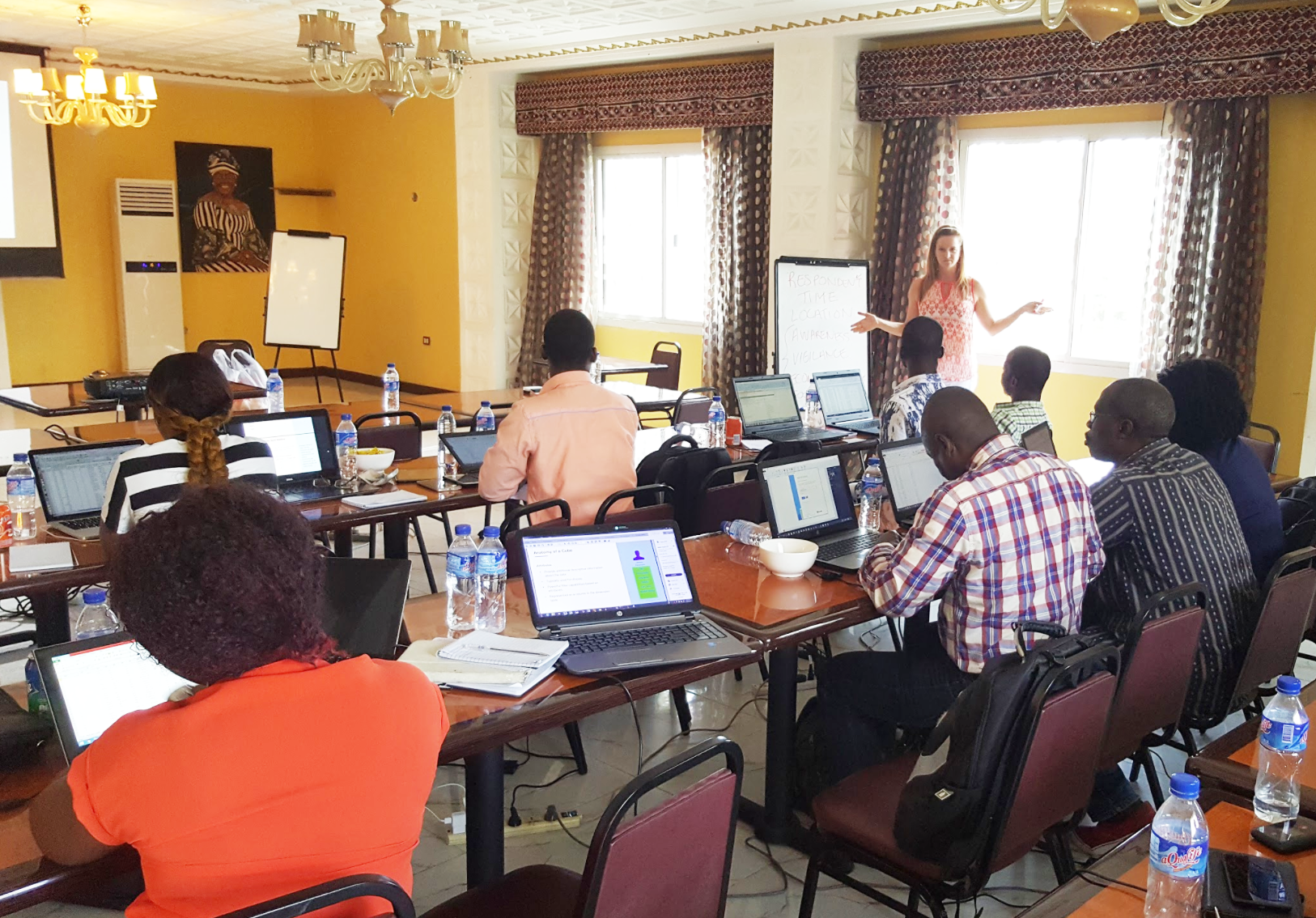 Data Management and Integration Training - Gretchen (Consultant) instructing trainees.