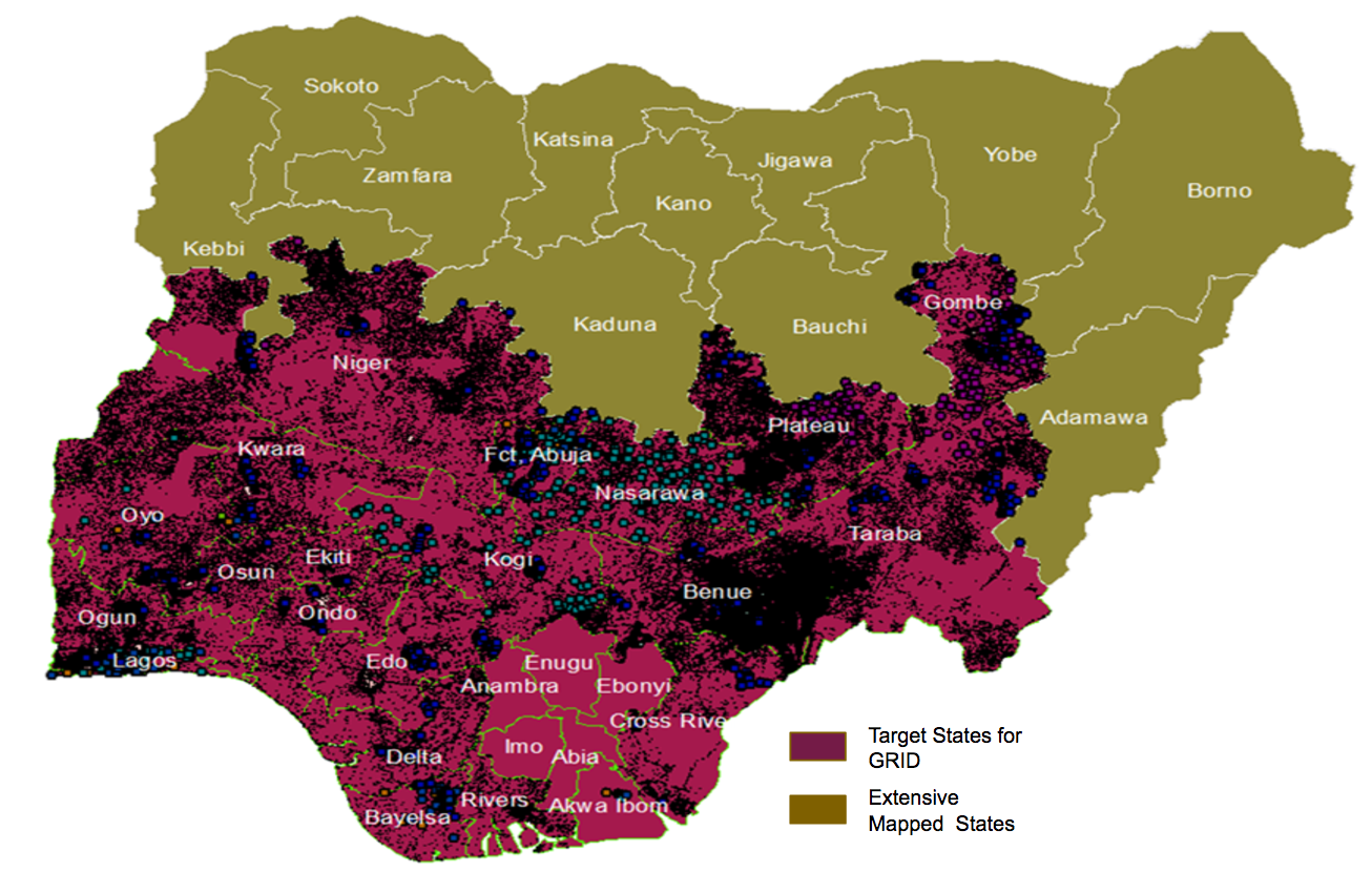 Project GRID: Mapping Communities in Nigeria to Aid ... on map of osun state nigeria, adamawa nigeria, map of jigawa state nigeria, map of anambra state of nigeria, map of ogun state nigeria, map of kogi state nigeria, map of benue state nigeria, map of rivers state nigeria, size of nigeria, map of adamawa state, map of borno state nigeria, map of plateau state nigeria, map of yobe state nigeria, map of bayelsa state nigeria, delta state nigeria, 36 states in nigeria, map of niger state nigeria, map of ebonyi state nigeria, map of ekiti state nigeria, map of nigerian states,
