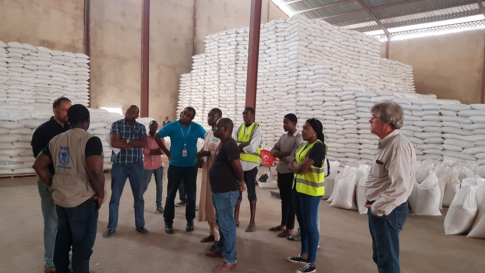 WFP management visits the eHealth Africa team managing operations at the Kano warehouse hub.