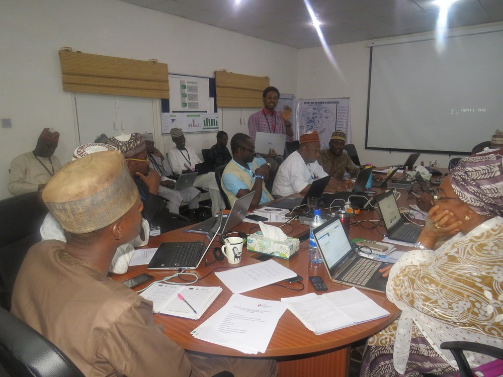 Debriefing at a state- level review meeting in Sokoto State