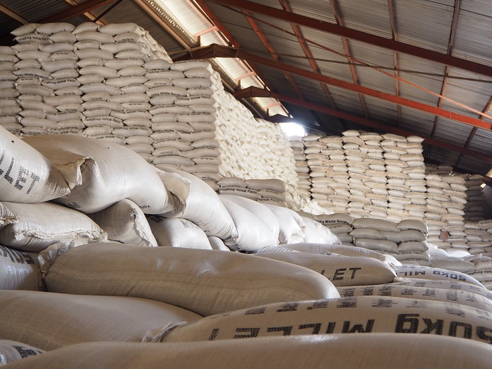 Food stored in eHA operated warehouse in Borno, Nigeria