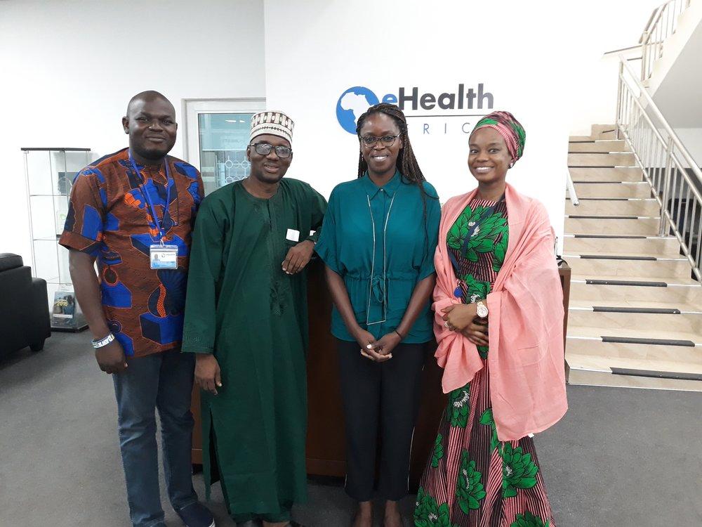 ES, KSPHCMB, Karell Pellé, Olayinka Orefunwa and Fatima Adamu (eHA MEDSINC team)