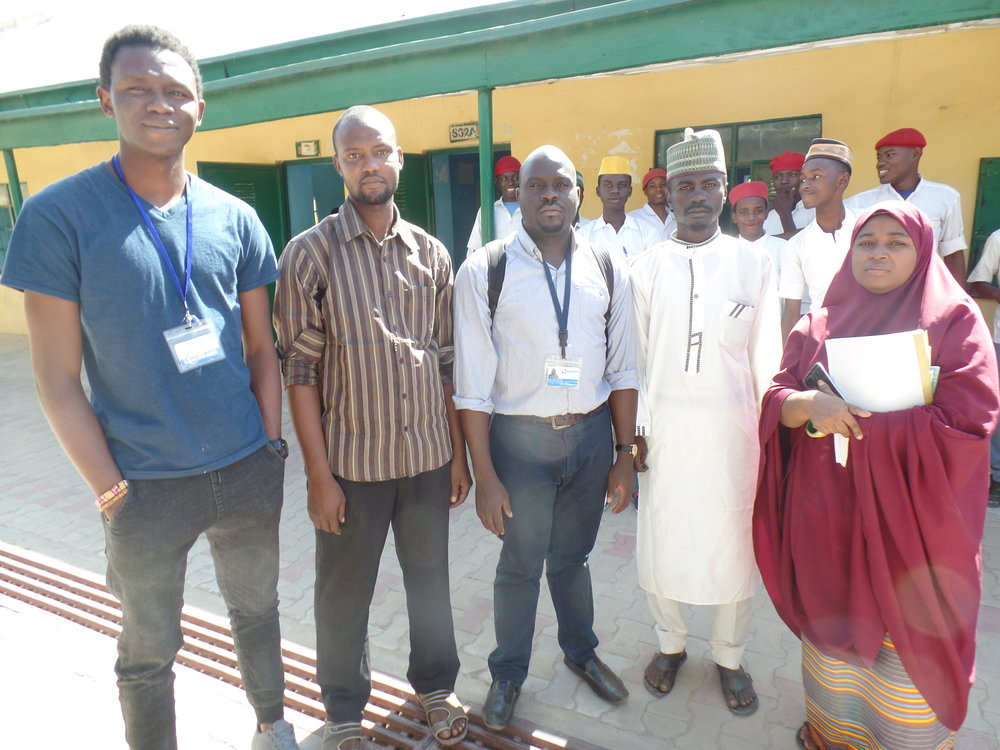 eHA staff with welcoming and innovative geography teachers at Governors' College, Kano