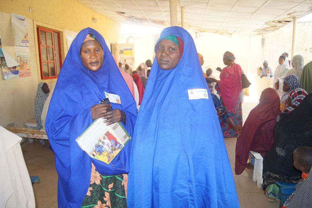 Community health mobilizers at Kawaji Primary Healthcare Center Kano state, Nigeria