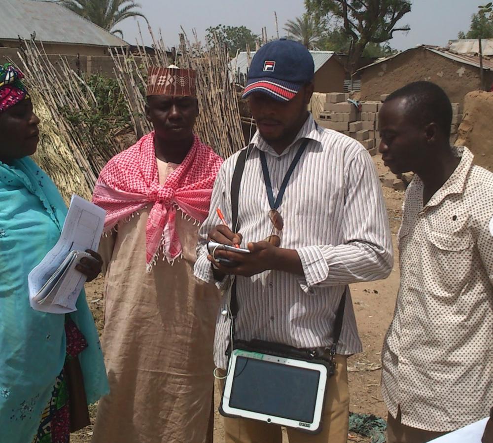 Data collectors in rural Northern Nigeria