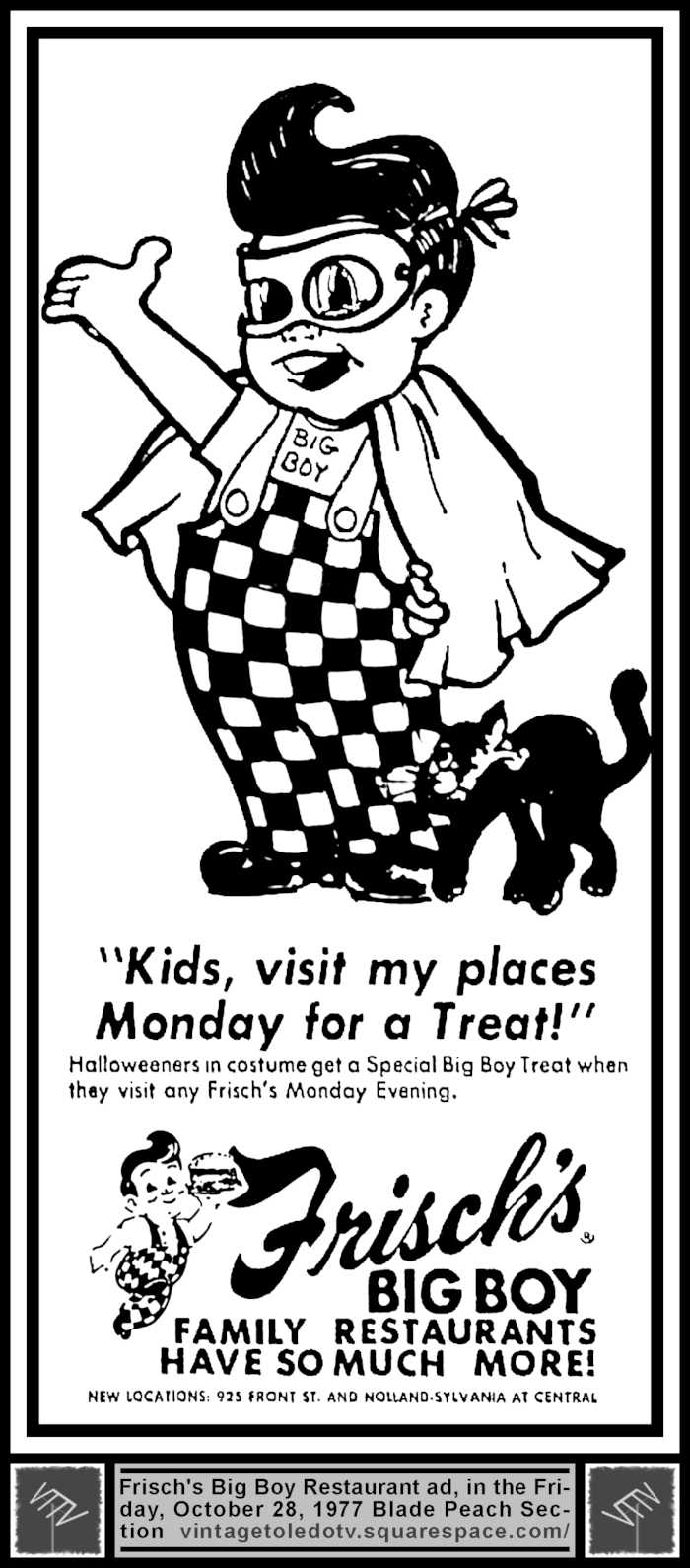Frisch's Big Boy Family Restaurants (Fri 10/28/77 Halloween ...