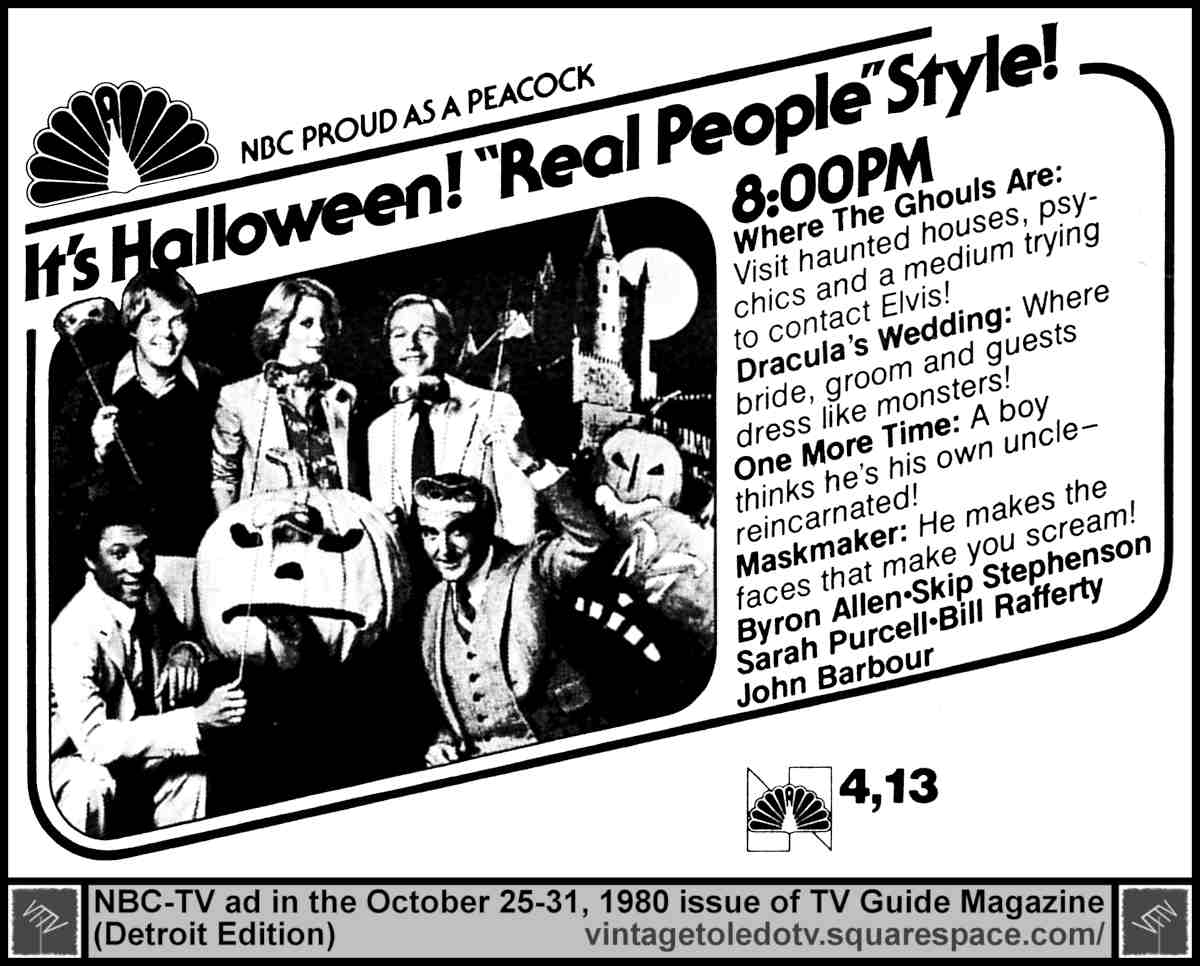 Real People (Halloween show) [NBC] Wed 10/29/80