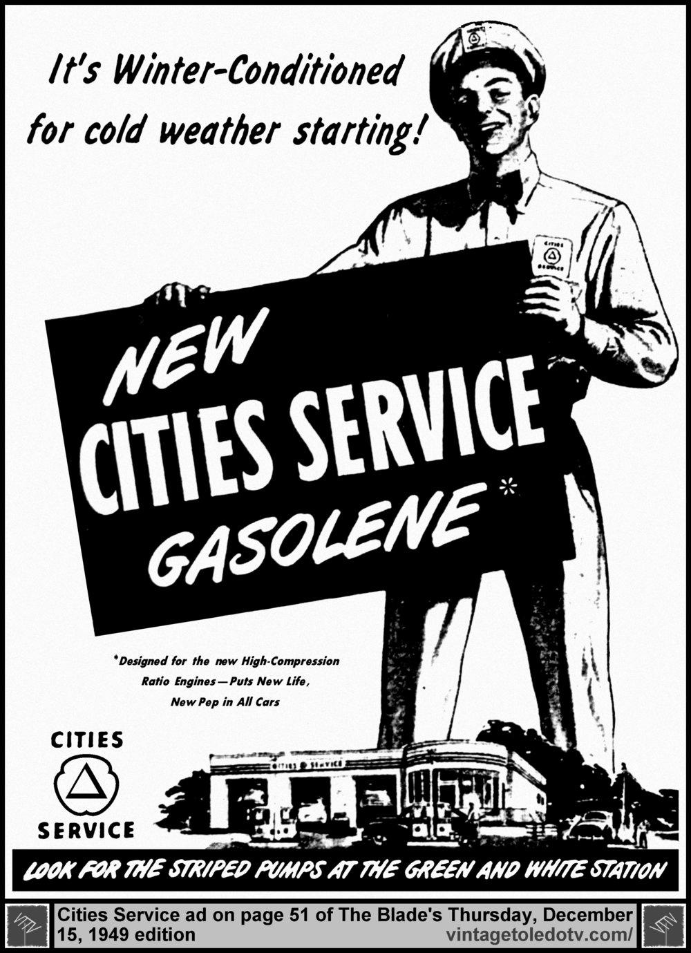 multiple image galleries 1959 Pontiac Bonneville new cities service gasolene thursday 12 15 49 ad on page 51