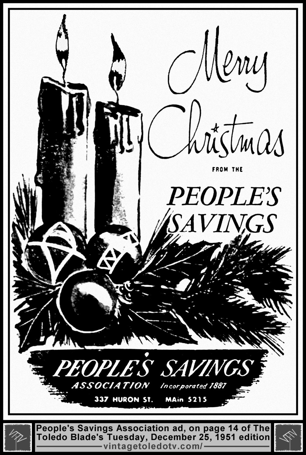 multiple image galleries Cigar Advertisements merry christmas from the people s savings tuesday 12 25 51 ad