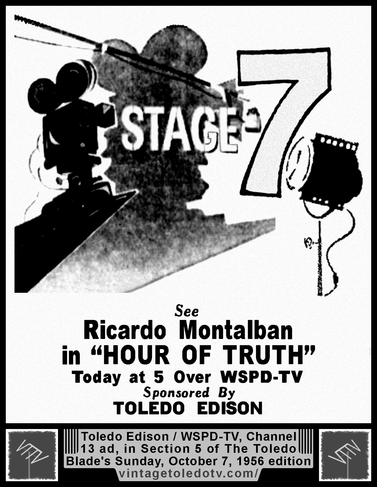 print ads for tv and radio shows and other Toledo-related ads