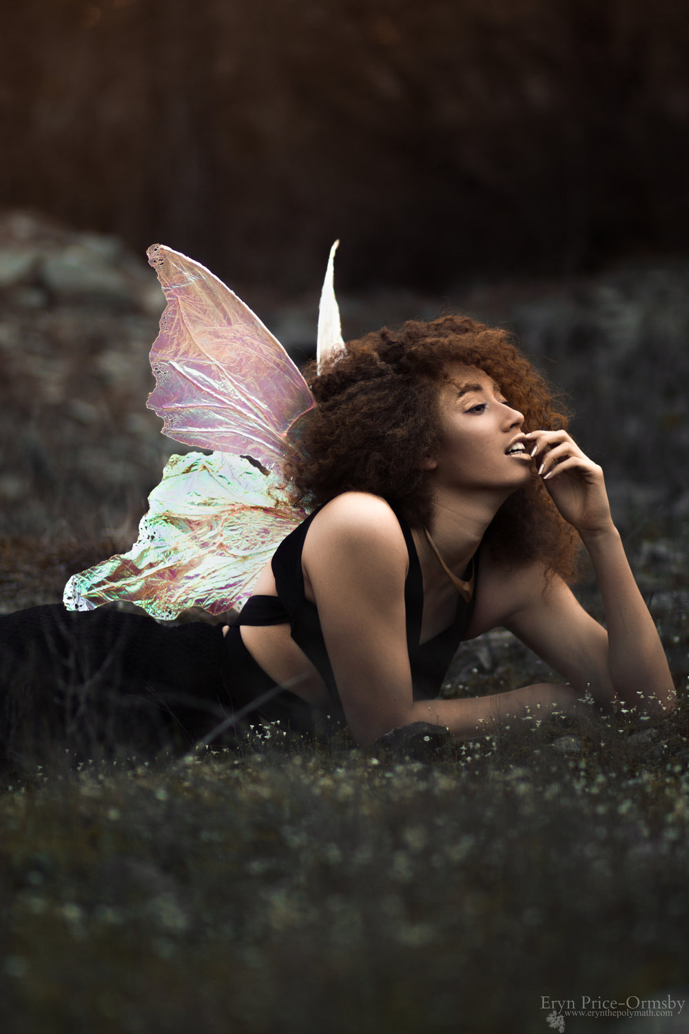 Swallowtail Butterfly Wings in Pearl Model | Samantha Tall Photography | Eryn Price-Ormsby