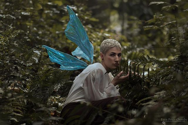 Missing this faerie prince! And being able to shoot surrounded by greenery. And all of Atlanta not shutting down because it might snow .3 inches. Who else is hiding at home today? Model | @alfposen  Photographer | @silverwinteroak  Wings | @theenchantedwild