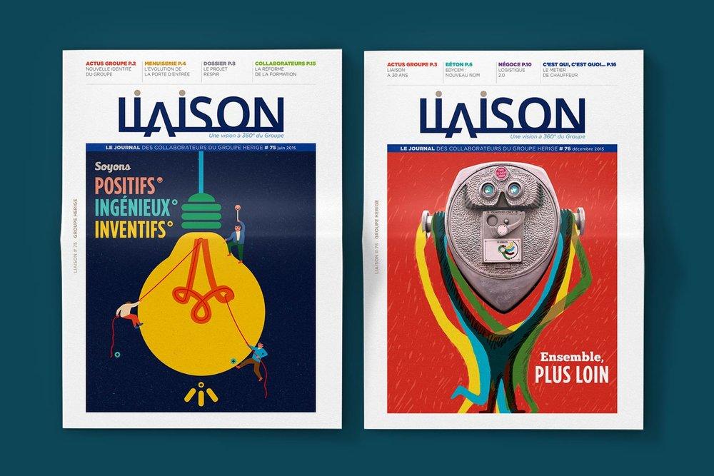 Liaison - Journal interne, Groupe Herige