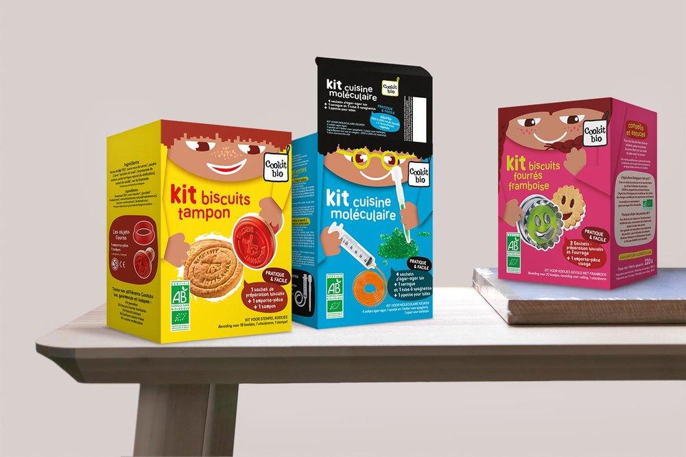 Kits culinaires pour enfants en étui - Marque Cookit bio, Nature & Aliments
