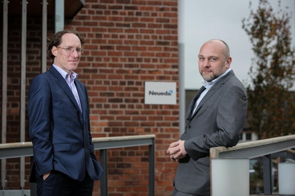 AquaQ Analytics CEO Ronan Pairceir with Brendan Duffy, Neueda's Chief Technical Officer