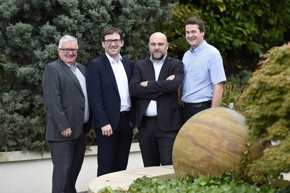 Paul Reihill, Socitm NI Chair; Justin Edwards, Chief Executive, CCEA; Brendan Duffy, CTO, Neueda and Roy Wilson, Solutions Architect, Microsoft – all pictured at the September Soctitm NI event in Belfast.