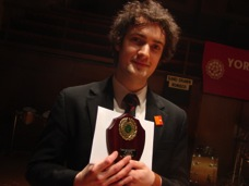 Matthew with best soloist prize