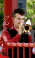 Jamie Smith playing cornet