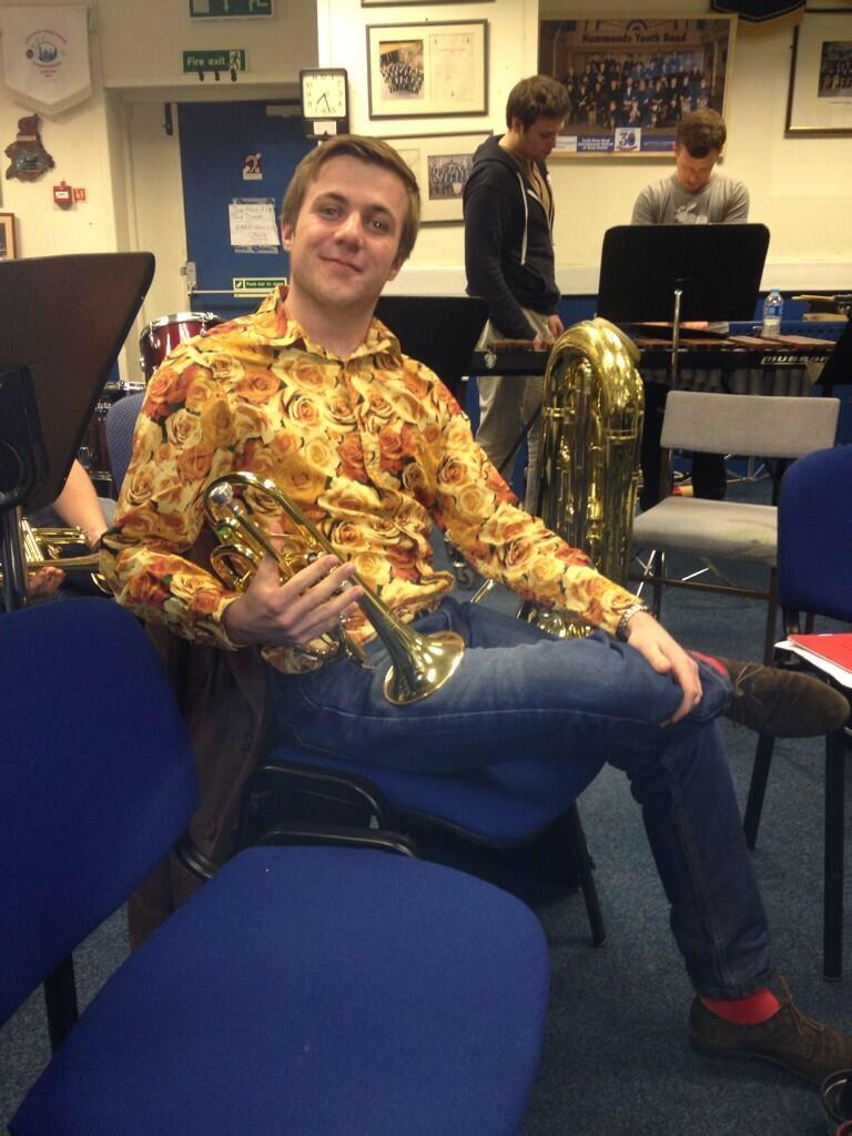 Ben in an awful shirt