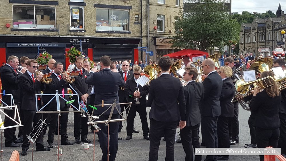 The band performing at Brighouse March Contest